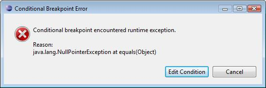 Setup Eclipse breakpoints to stop only under certain