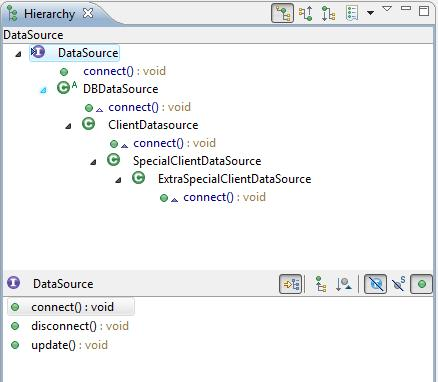 how to get eclipse to list all methods